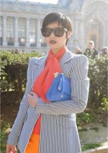Color_block_trend_stripe_jacket_blue_clucth_orange_shirt_pants-650x970